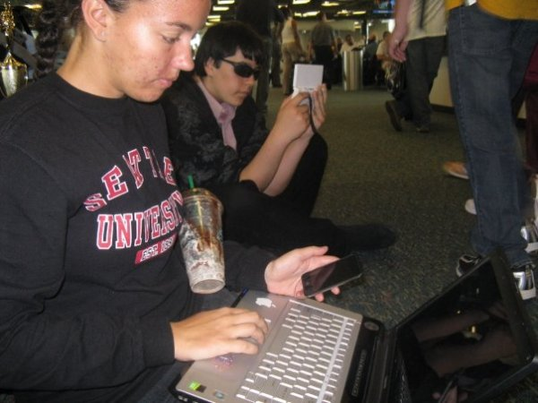 Photo unrelated, albeit taken at an airport during a band trip. (2008)
