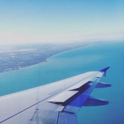 Landing in Chicago.