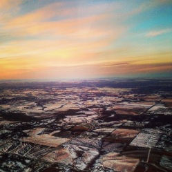 Peak Iowa sunset.